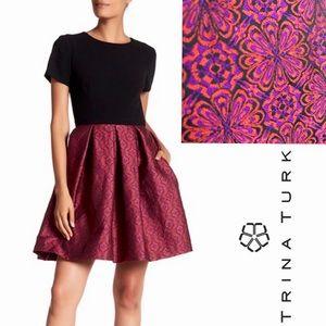 NWT Trina Turk Judy Printed Cocktail Dress, 12